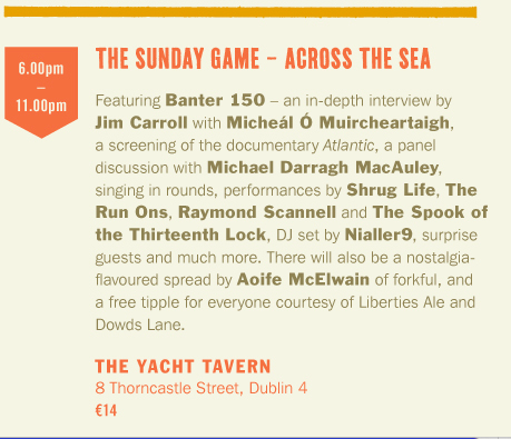 Running Order – The Sunday Game – Across the Sea